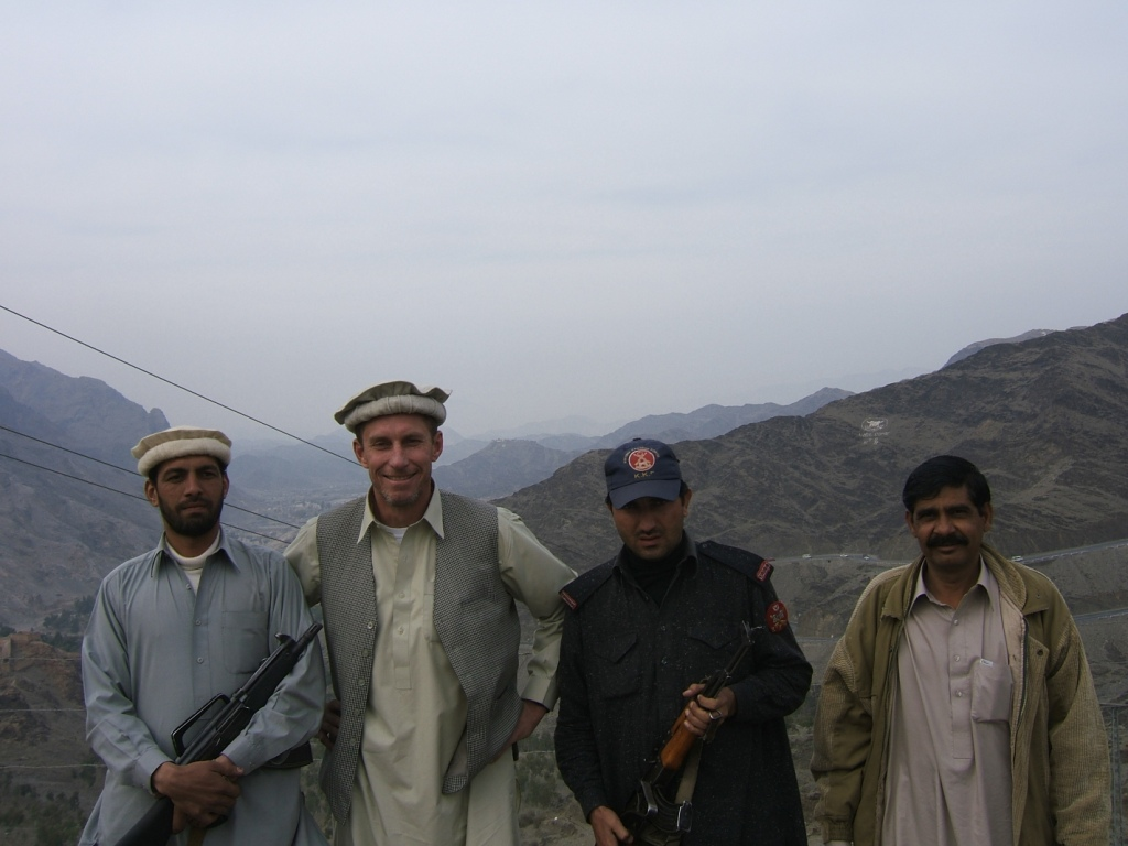 Outside Michni Fort on the non VIP tour with the Afridi's