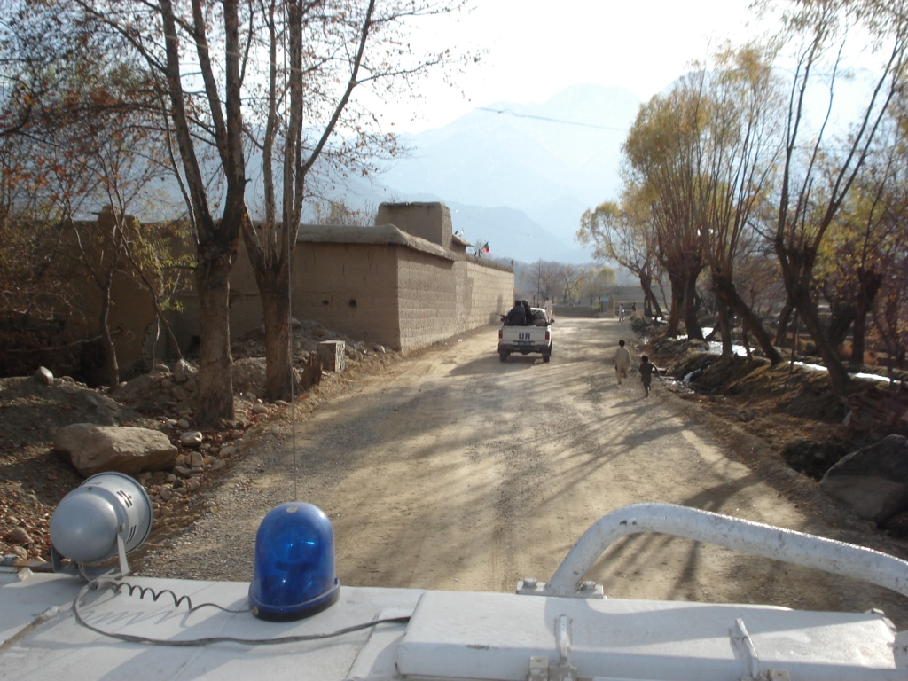 Entering Wazir village in November 2007 - this is Taliban country now