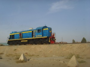 A Diesel Locomotive in Northern Afghanistan