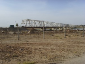 The Afghanistan-Uzbekistan Friendship Bridge over the Amu Darya River.