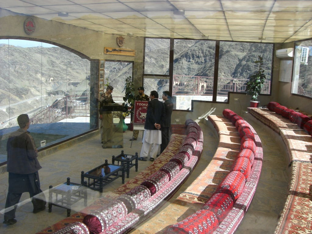 VIP briefing room. The Khyber Rifles have a first rate presentation on their role and mission