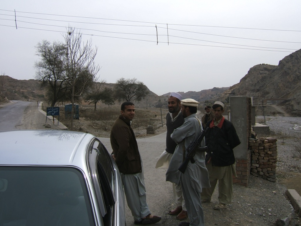 Yahya and some friends waiting to linkup with the rest of our land pirate guides