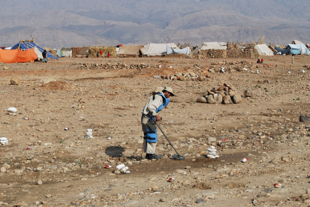Better late then never - clearing mines from around a UN refugee camp