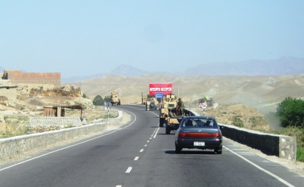 Double bad news - being stuck behind an American convoy will triple the commute time to Kabul.  Of greatrer concern is the lack of traffic heading east from Kabul.  The Americans, oblivious to the fighting a few miles ahead, turned off shortly after we got stuck behind them