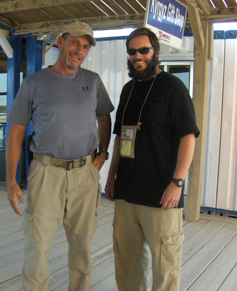 Matt DuPee and I on the boardwalk at KAF (Kandahar Airfield)