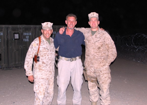 Seeing old friends who have excelled in a difficult profession is one of the joys in getting old. Colonel Eric Mellinger, Mike Killion and I outside the 2nd MEB COC last night.  These are two of the finest combat leaders we have and they are close, personal friends who I served with back in the 80's and 90's.  These men know how to fight and are fixing to open up a can of whoop ass on the cowards preying on the Afghan prople in the south