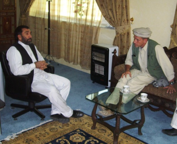 Juma Khan Hamdard, Governor of Paktia Province - important meetings should be treated exactly the same in Afghanistan as they are in America. How would it look to a state Govenor if a military commander arrived with 16 gunmen, embarked upon four Armored Praire Schooners and encased in body armor like Ivanho?