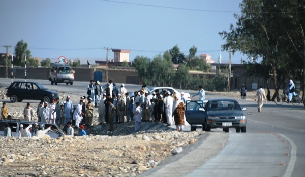 Motor vehicle accidents are frequent and  bad in Afghanistan.  This one was worse than most - a van full of woman and children was t-boned by a white corolla which tried to enter the by-pass without giving way. Many of the woman and children were still alive and being manhandled out of the wreakage by local people.  This accident occured about 600 meters away from a major US FOB.  A Brigade commander who was oriented on the people of Afghanistan could have the few high speed roads in the area coverd with little flying colums of mixed gendered troops.  We stopped to lend a hand but were by the police (correctly) that it would be a bad idea for a male foriegner to tend to the criticaly injured woman - the children were already in cabs and heading to the Nanagarhar Teaching Hospital some 3 miles away.