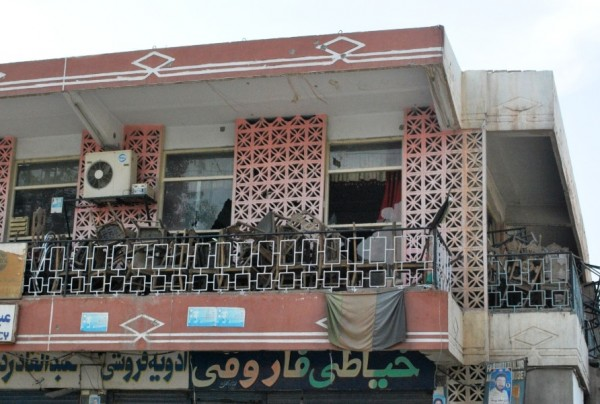 Second deck of the Nangarhar Hotel where the cover man retreated to after he was engaged by the ANP