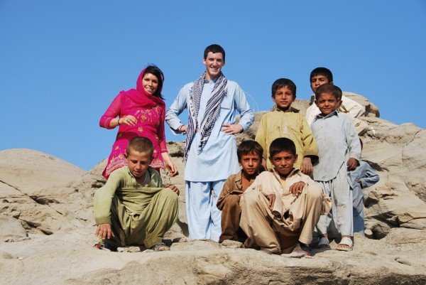 A sign of commitment; bringing your kids over for a few months to enjoy the sights, sounds and people which make Afghanistan such a cool place to work in. My son Logan and daughter Kalie outside Little Barabad, Nangarhar Province, October 2009