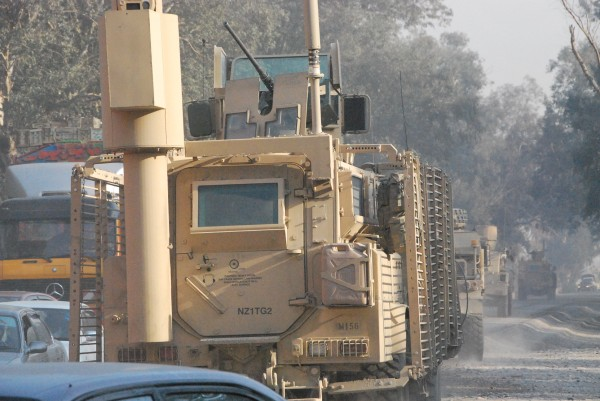 And there they go no doubt through the city instead of the truck by-pass but you get that from the Army in Jbad.