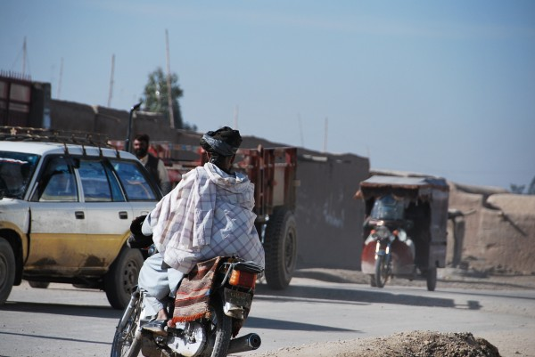 Downtown Lashka Gar - the capitol of Helmand province which is in the south.  Not too crowded not