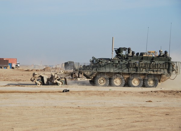 Strykers heading out to the highway