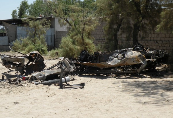 20 May - Minutes after the IED went off downtown another low order explosion occured just outside the ISAF base at the Jalalabad Airfield.  The exposive were in a van and several more low order explosions went off as the van burned. The driver bailed out and escaped.