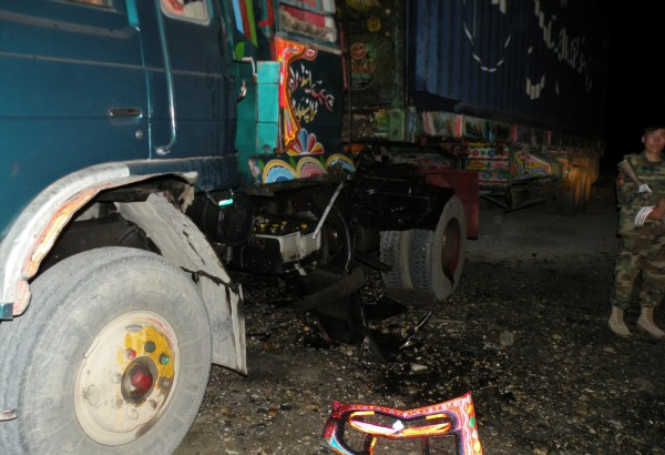 23 May - A small explosion occured during the evening at the Nangarhar Customs lot which is a mile or so to the east of the Jalalabad Airfield - this appears to be another magnetic mine.
