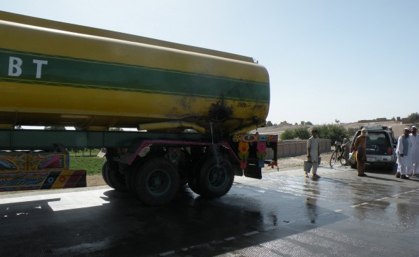 25 May - Another limpet mine attack on a fule truck traveling the Jalalabad trauck by-pass