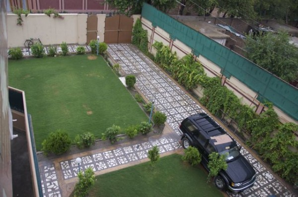 A modern compound like ours has no problem handling heavy rains