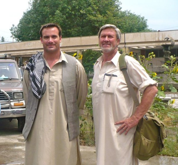 om right to left Dan Terry, Dr. Keith Rose, and one of Dan's Drivers. This photo is a few years old and taken in front of the CURE hospital. Dr. Rose is one of those self funded doctors (in his case a plastic surgeon who fixes cleft palates and builds ears and noses for kids who had theirs removed by the Taliban) volunteering at the CURE hospital in Afghanistan.