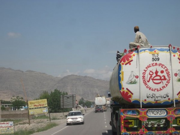 The fuel tanker fleet continues to use anti bording parties topside only now they are in place from the Torkham border all the way to Kabul.