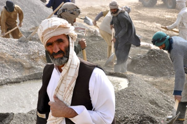 One of the supervisors on a cash for work project in Nimroz Province