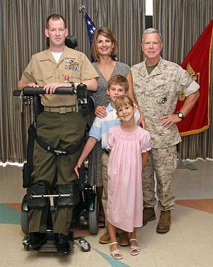 Ty Edwards and family with Gen Amos - the assistant Commandant of the Marine Corps