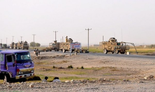 Route Clearance Package working outside of Kandahar