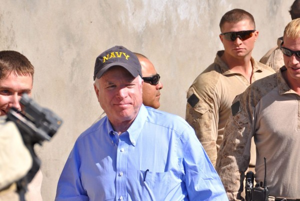 Sen John McCain in the Nawa district administrative center last month. He looks much better then he did 5 years ago when I last saw him (from a distance I do not know Sen McCain personally) and it seemed to me that the Marines enjoyed seeing Senators in an area which still sees its share of Taliban attacks