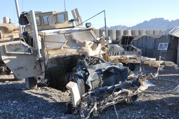 In 6 months the Marines have lost 3 MRAP's but no men to IED's
