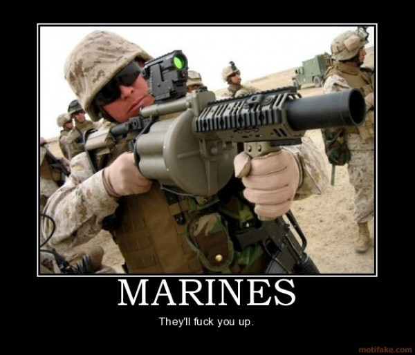It is rumored the Pentagon is not too happy with the newest USMC recruiting poster