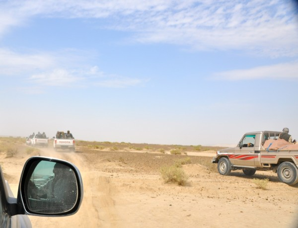 We headed back towards the Helmand - the old truck on the right was the Chicken Truck and carried all the food and drinks for our lunch