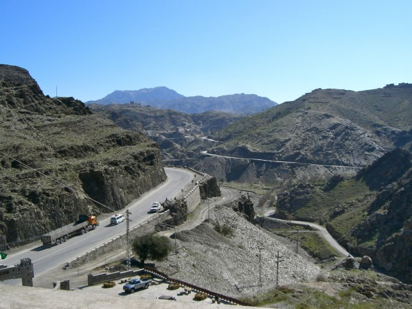 Looking east at the Khyber Pass from the Michni Fort. The narrow pass has been militarily significant since the assent of man but it isn't now - we could roll through it, fly over it, or take it with infantry in a matter of hours.