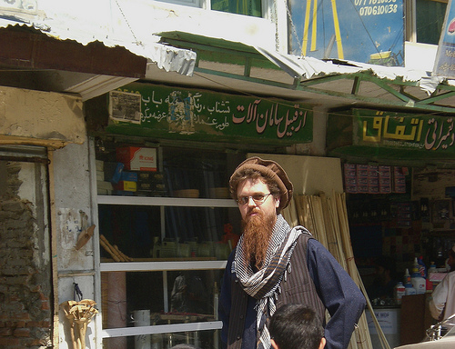 Todd Huffman shopping in the Jalalabad bazaar